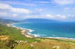 Tajwan sławni Zwiedzający przyciągania Kenting park narodowy fotografia royalty free