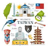 Tajwan set Zdjęcia Stock