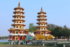 Tajwan: Smoka i tygrysa pagody Fotografia Stock