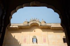 Taköverkant av det Mahargarh fortet Arkivbild