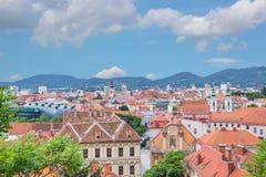 Tak över Graz, Styria, Österrike Royaltyfri Bild
