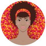 tak, afroamerykanin ładna dziewczyna Fotografia Stock
