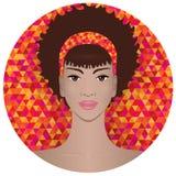 tak, afroamerykanin ładna dziewczyna Obraz Stock
