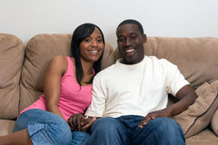 tak, afroamerykanin atrakcyjna para Obraz Stock