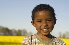 tak, afroamerykanin chłopcze Fotografia Royalty Free