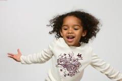 tak, afroamerykanin dziewczyna Zdjęcia Stock