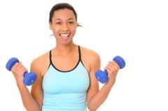 tak, afroamerykanin fitness dziewczyny zdrowia fizycznego Obrazy Stock