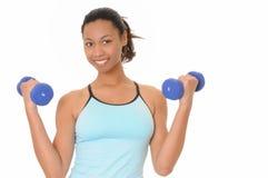 tak, afroamerykanin fitness dziewczyny zdrowia fizycznego Zdjęcie Stock