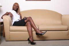 tak, afroamerykanin kobieta jednostek gospodarczych Zdjęcie Royalty Free