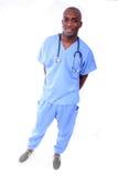 tak, afroamerykanin męska pielęgniarka Obraz Stock