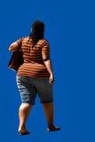tak, afroamerykanin otyłością Fotografia Royalty Free