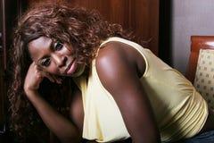 tak, afroamerykanin seksowna kobieta uśmiechnięta Obrazy Royalty Free