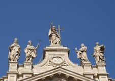 Tak av Archbasilica av St John Lateran Arkivbild