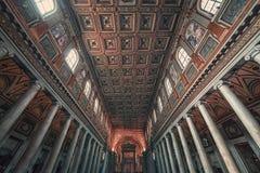 Tak av basilikan av St Mary av altaret av himmel arkivfoton