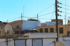 Tak av byggnader i Valencia Spain arkivfoton