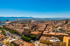 Tak av Cagliari i Sardegna Royaltyfri Fotografi
