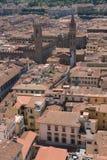Tak av den åldriga staden Arkivbild