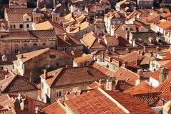 Tak av den gamla staden, Dubrovnik Royaltyfri Fotografi