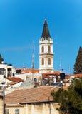 Tak av den gamla staden med helgedom begraver den kyrkliga kupolen, Jerusalem Royaltyfri Bild