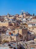 Tak av den gamla staden med helgedom begraver den kyrkliga kupolen, Jerusalem Royaltyfria Foton