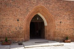 Tak av den gamla staden av Reszel Royaltyfria Bilder