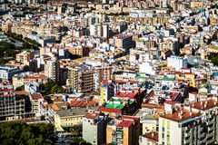 Tak av den Malaga grannskapen Arkivfoto