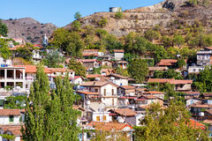 Tak av den Palaichori byn Cypern Nicosia område Arkivfoton