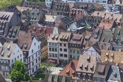 Tak av den Strasbourg staden, Alsace, Frankrike arkivbild