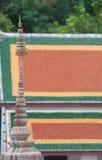 Tak av den thailändska templet, Wat Phra Phutthabat Saraburi, Thailand Royaltyfri Bild