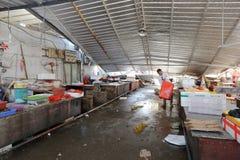 Tak av den xiang'an kollapsen för områdesmatmarknad Arkivbild
