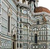 Tak av det Baroncelli kapellet i basilikadi Santa Croce. Florence Italien royaltyfri bild