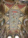 Tak av det Piccolomini arkivet i Siena Cathedral arkivfoton
