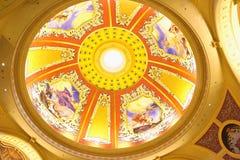 Tak av det Venetian Macaoet Det är lyxigt en hotell- och kasinosemesterort i Macao Arkivbild