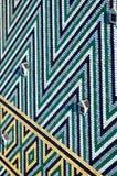 Tak av domkyrkan för St Stephen ` s - Stephansdom i Wien, Österrike, modell av färgade glasade tegelplattor Arkivfoton