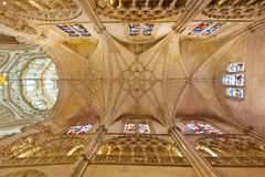 Tak av domkyrkan i Burgos, Spanien royaltyfria bilder