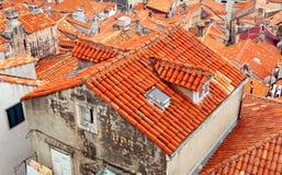 Tak av Dubrovnik, Kroatien Royaltyfri Foto