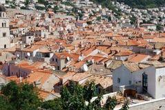 Tak av Dubrovnik, Kroatien Balkans Adriatiskt hav, Europa Arkivfoto
