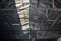 Tak av en fabrik arkivbilder