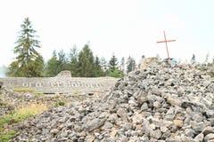 Tak av huset på kloster i slovakiskt paradis Arkivfoton