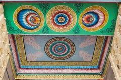 Tak av ingången av den Shirangam templet Arkivfoto