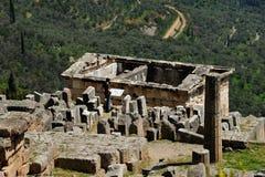 Tak av kassan av Athenians Delphi royaltyfri fotografi