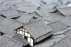Tak av kinesiska forntida byggnader Fotografering för Bildbyråer