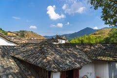 Tak av kinesiska gamla byhus Fotografering för Bildbyråer