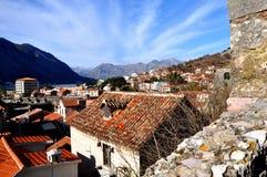 Tak av Kotor, Montenegro Arkivfoto