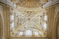 Tak av Mezquita, CÃ-³rdoba Andalusia Spanien fotografering för bildbyråer