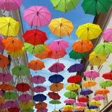 Tak av paraplyer Royaltyfri Foto