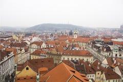 Tak av Prague Arkivfoton