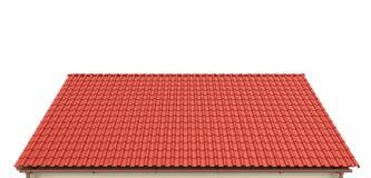 Tak av röda tegelplattor på en vit bakgrund royaltyfri illustrationer