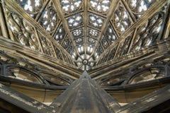 Tak av Roman Catholic Cologne Cathedral, Tyskland Arkivbilder