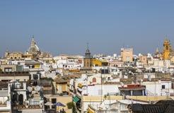 Tak av Seville royaltyfri fotografi
